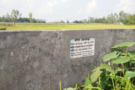 অধ্যাপক শাহ মো: সোলাইমানসহ নাম না জানা শহীদদের গণকবর